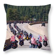Salute To Veterans Rally Throw Pillow
