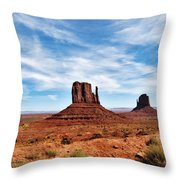 Saluting Sentinels Throw Pillow