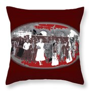 Saluting With Sabers Military Ceremony Unknown Location Or Date-2014 Throw Pillow