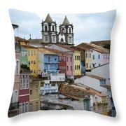 Salvador Brazil The Magic Of Color 2 Throw Pillow