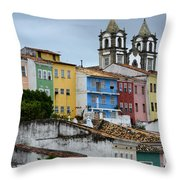 Salvador Brazil The Magic Of Color Throw Pillow