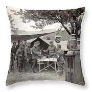 Salvation Army At Front Throw Pillow