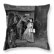 Salvation Army In Slums Throw Pillow