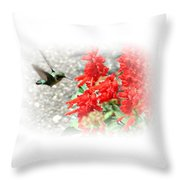 Salvia Approach Throw Pillow
