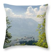 Salzburg Fortress 1 Throw Pillow