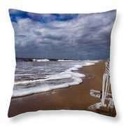 Sam Looks To The Ocean Throw Pillow