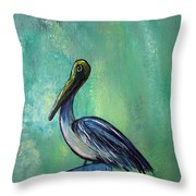 Sam The Pelican Throw Pillow