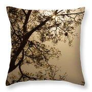 Saman In The Sky Throw Pillow