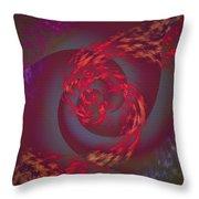 Samba Dancer Abstract Digital Painting Throw Pillow