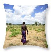 Samburu Chief Throw Pillow