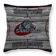 Samford Bulldogs Throw Pillow