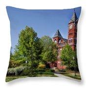 Samford Hall - Auburn University Throw Pillow