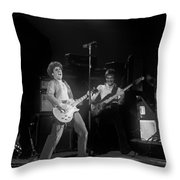 Sammy And Bill On Stage In Spokane In 1977 Throw Pillow
