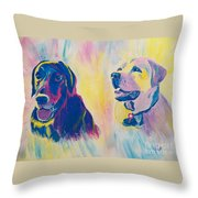 Sammy And Toby Throw Pillow