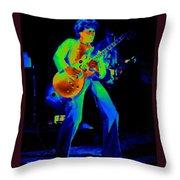 Sammy Cosmic Hagar In Spokane 1977 Throw Pillow