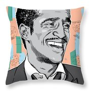 Sammy Davis Jr Pop Art Throw Pillow