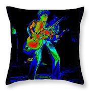 Sammy Hagar In Spokane 1977 Art Throw Pillow