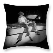 S H Playing Bad Motor Scooter In Spokane 1977 Throw Pillow