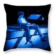 S H Plays The Blues In Spokane On 2-2-77 Throw Pillow