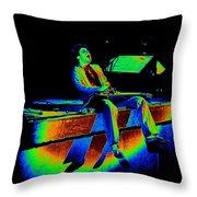 S H Rocks Spokane 1977 Throw Pillow