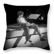 Sammy Tearing It Up In Spokane On 2-2-77 Throw Pillow