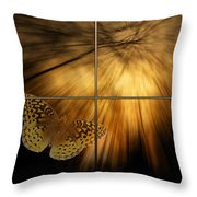 Sample Paneled Following The Light Yellow Butterfly Throw Pillow