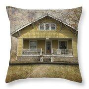 Sample Paneled Yellow Bungalow Throw Pillow