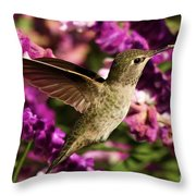Sampling The Flowers Throw Pillow