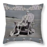 Sam's Humerus Office Wall Decor Throw Pillow