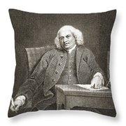 Samuel Johnson, English Author Throw Pillow