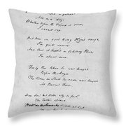 Samuel Taylor Coleridge (1772-1834) Throw Pillow