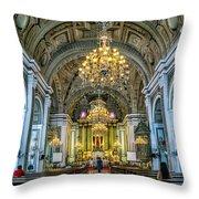 San Agustin Church  Throw Pillow