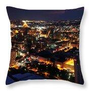 San Antonio - High Above San Antonio Throw Pillow
