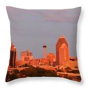 San Antonio - Skyline At Last Light Throw Pillow