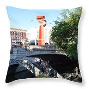 San Antonio River 01 Throw Pillow
