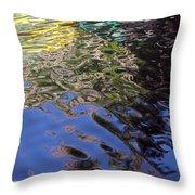 San Antonio River Reflection Throw Pillow