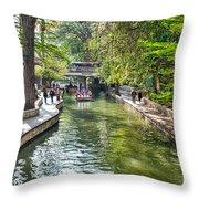 San Antonio River Walk In Spring Throw Pillow
