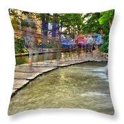 San Antonio Riverwalk Slomo Throw Pillow
