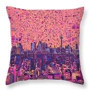 San Antonio Skyline Abstract 5 Throw Pillow