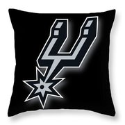 San Antonio Spurs Throw Pillow by Tony Rubino