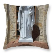 San Antonio Statue Throw Pillow