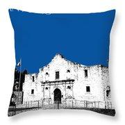 San Antonio The Alamo - Royal Blue Throw Pillow