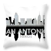 San Antonio Tx 4 Throw Pillow