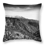 San Bernardino Snow Throw Pillow