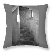 San Christobal Staircase- Black And White Throw Pillow