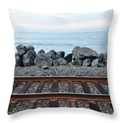 San Clemente Coast Railroad Throw Pillow