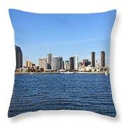 San Diego Ca Harbor Skyline Throw Pillow
