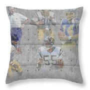San Diego Chargers Legends Throw Pillow