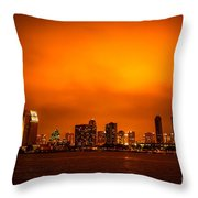 San Diego Cityscape At Night Throw Pillow by Paul Velgos