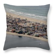 San Diego Coast Aeriol 3 Throw Pillow